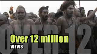 Repeat youtube video Naga sadhu demonstrates yoga during Ardh Kumbh Mela