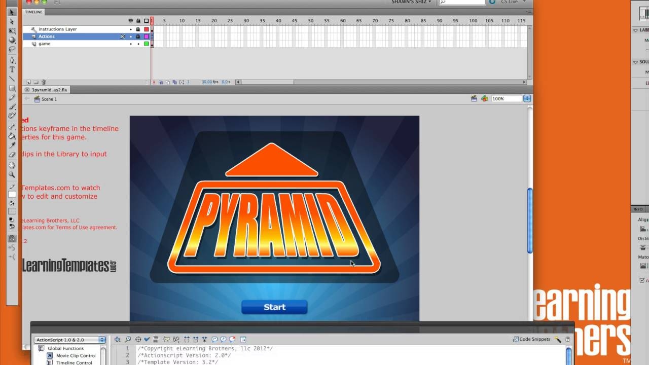 Editing the Pyramid Flash Game Template - YouTube