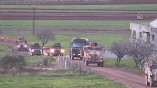 شاهد | الأرتال العسكرية التركية تواصل توغلها في إدلب