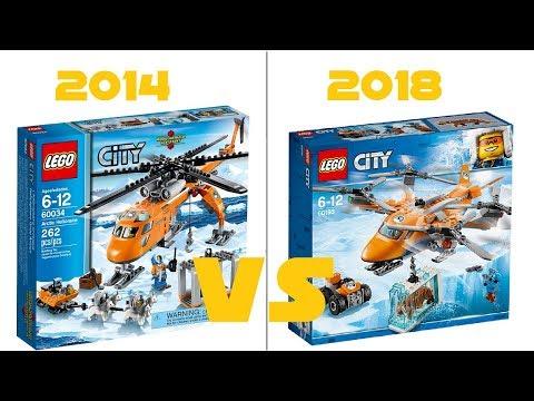 LEGO CITY - 60193 Arctic Air Transport VS 60034 Arctic Helicrane - HD-Pictures + COMPARISON