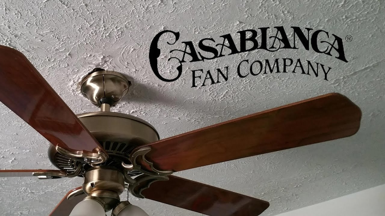 Casablanca Panama Ceiling Fan Youtube