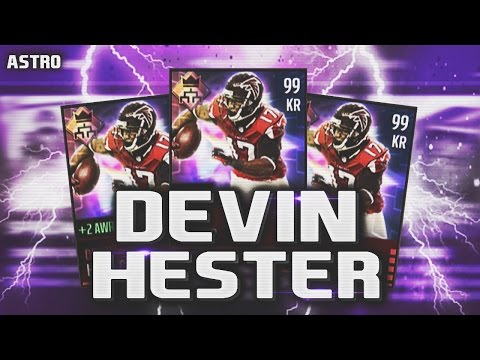 99 OVERALL DEVIN HESTER LEAGUE CARD REVIEW/GAMEPLAY! - Madden Mobile 16