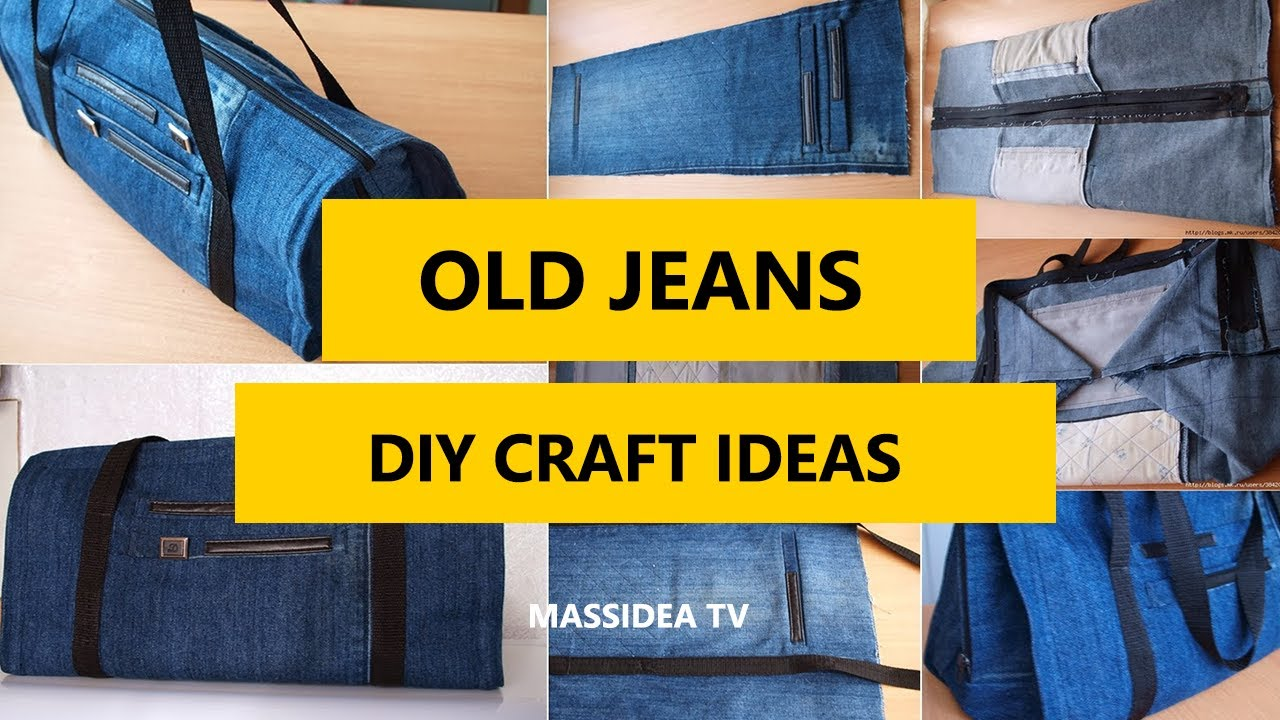 50 Creative Craft Ideas For Old Jeans Simple Diy 2017 Youtube