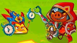 Птички Энгри Бердс #134 Кид играет игру про мультфильм Angry Birds и Bad Piggies