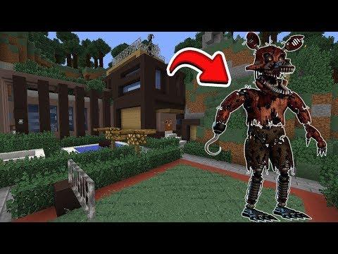 ANIMATRONIC GIGANTE APARECEU NA MINHA CASA NO MINECRAFT ( Five Nights At Freddy's ) thumbnail
