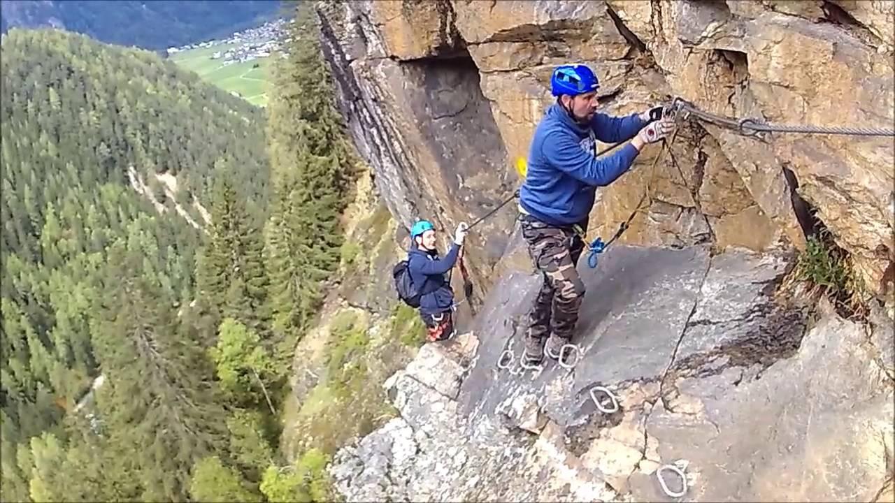 Klettersteig Stuibenfall : Klettersteig stuibenfall youtube