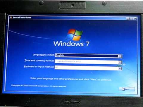 Install Windows Vista from Bootable USB Flash Memory Drive