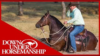 Clinton Anderson: How to Correct a Horse Lying Down on the Trail - Downunder Horsemanship