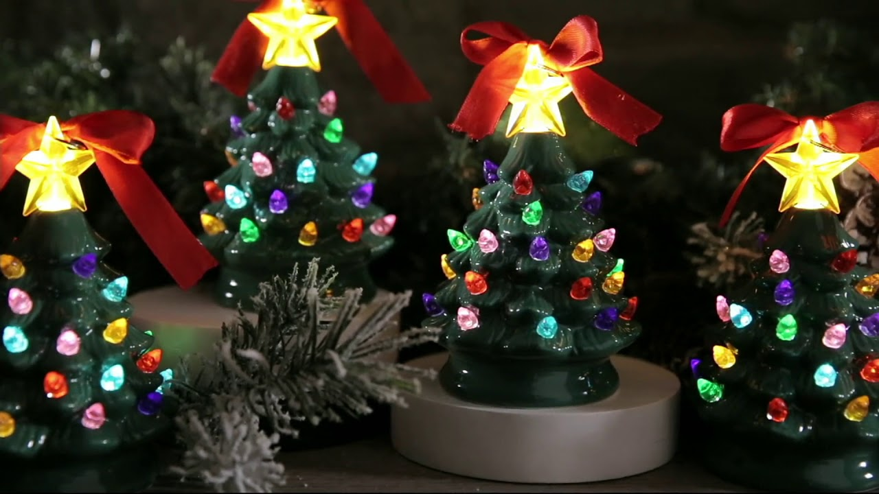 Mr Christmas Set Of 4 Mini Nostalgic Tree Ornaments With Gift Bags On Qvc
