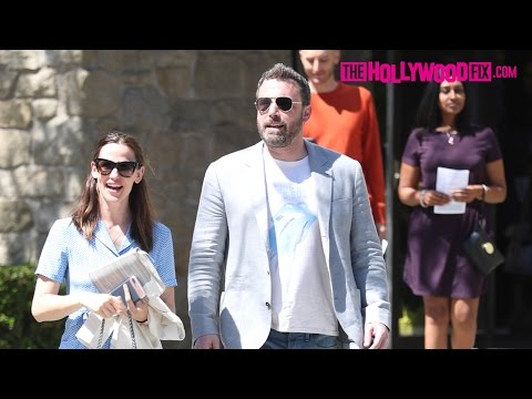 Ben Affleck & Jennifer Garner Attend Easter Sunday Church Service After Filing For Divorce 4.16.17