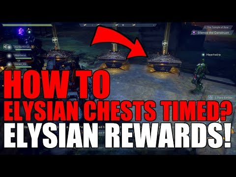 Anthem | Elysian Chests limited timed event!? How to get Rewards! HOW TO