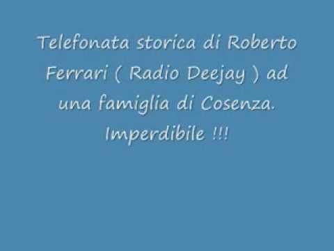Telefonata storica di radio DJ ad una famiglia di Cosenza