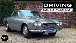 LANCIA FLAMINIA GT 2800 3C 1964 - Full test drive in top gear - Engine sound | SCC TV