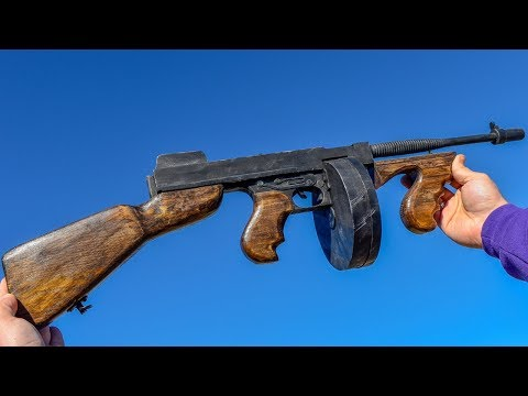 HOW TO MAKE TOMMY GUN FROM PUBG DIY