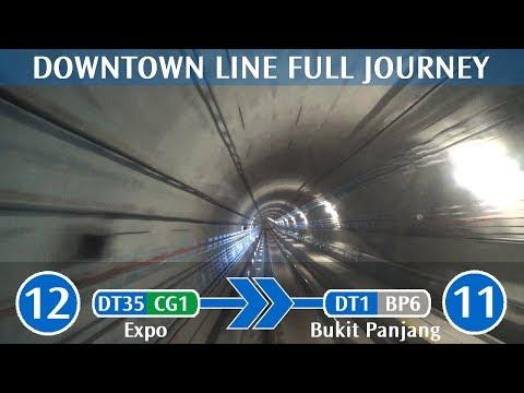 SBS Transit Downtown Line Full Journey - DT35 Expo → DT1 Bukit Panjang