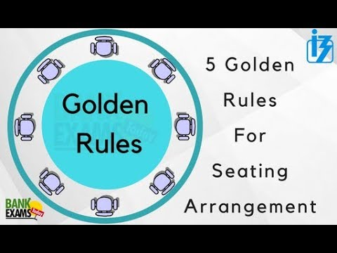 5 Golden Rules for Reasoning Seating Arrangement