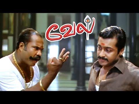 Vel full Movie Scenes   Suriya meets Kalabhavan Mani   Suriya Fight Scene   Surya best mass Scene
