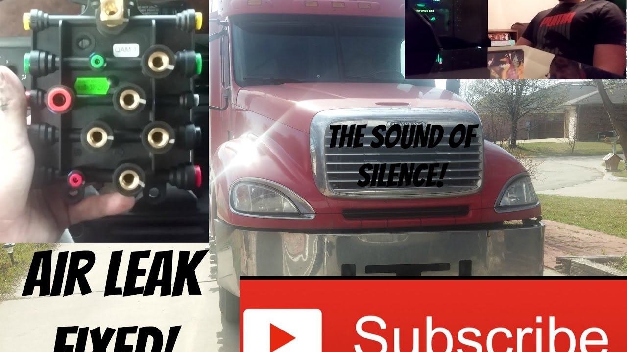 2006 Freightliner air manifold leak fixed  YouTube