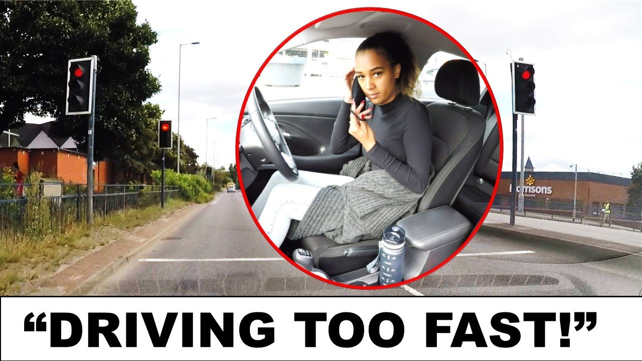 She Should've Stopped! NEW DRIVING TEST FAIL