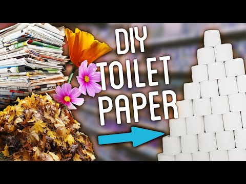 DIY Toilet Paper Using Newspaper, Leaves, Flowers And MORE!