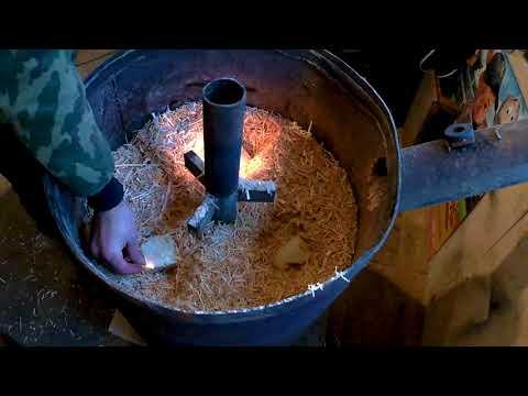 Печка на опилках,вариант № 3