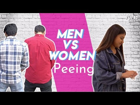 in man pee face Girl