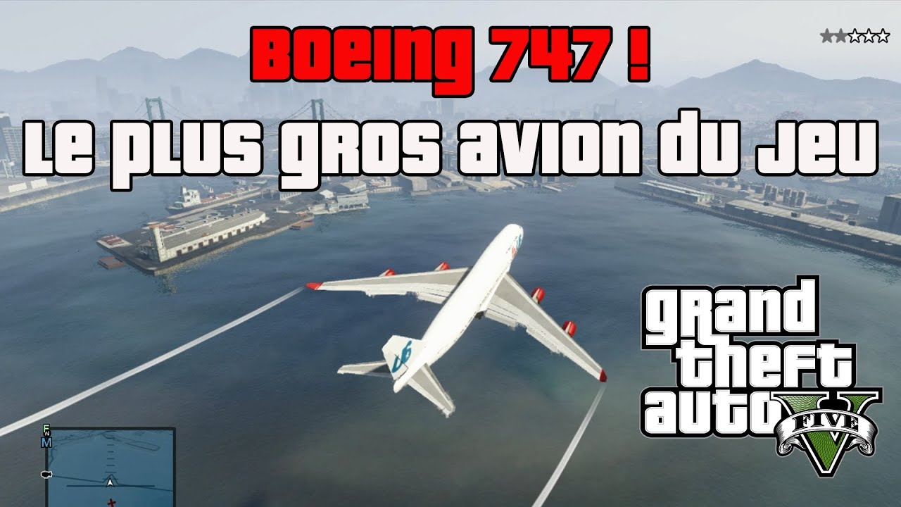 le boeing 747 piloter sur gta v le plus gros avion du jeu youtube. Black Bedroom Furniture Sets. Home Design Ideas