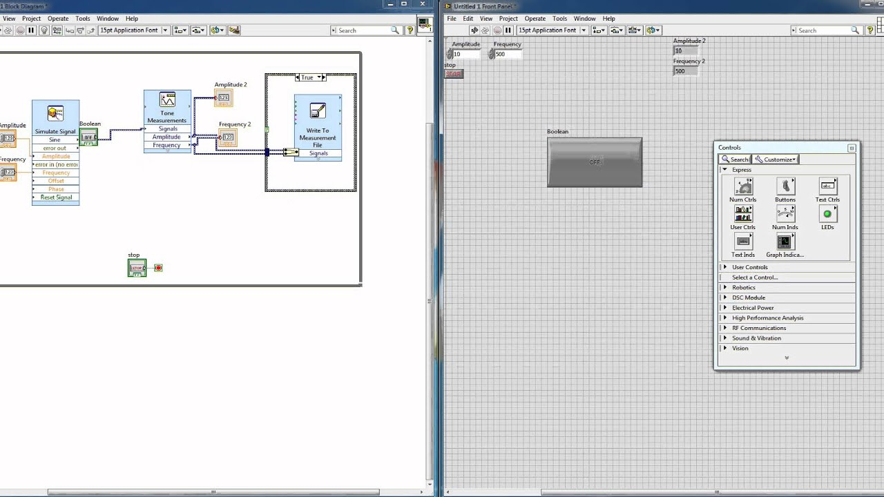 Saving Acquired Data in LabVIEW