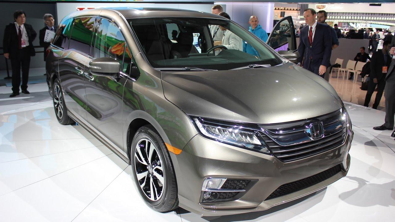 2018 honda odyssey first look youtube for Detroit auto show honda odyssey