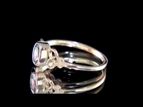 Antique Rose Gold Garnet Engagement Ring MTC025