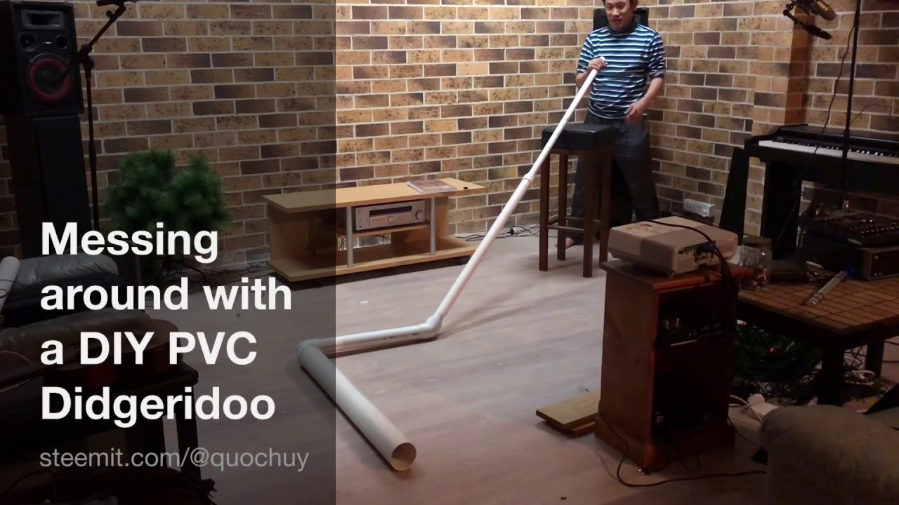 Messing around with a DIY PVC Didgeridoo