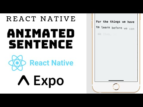 React Native - Animate words in a sentence using Animated.stagger thumbnail
