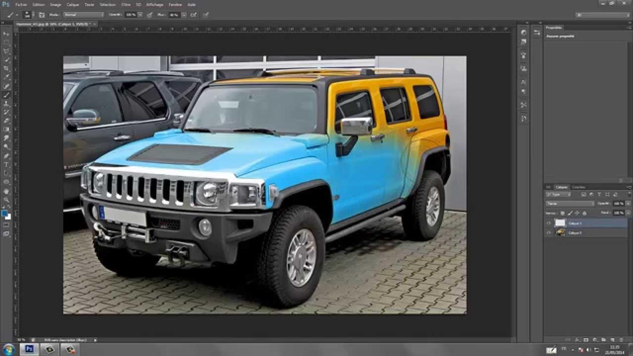 tuto photoshop cs6 changer la couleur d 39 une voiture sans s lection youtube. Black Bedroom Furniture Sets. Home Design Ideas