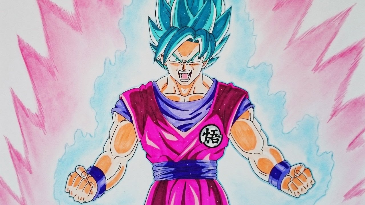 Como Dibujar A Goku Super Sayayin: Cómo Dibujar A Goku SSJ Dios Kaioken Paso A Paso