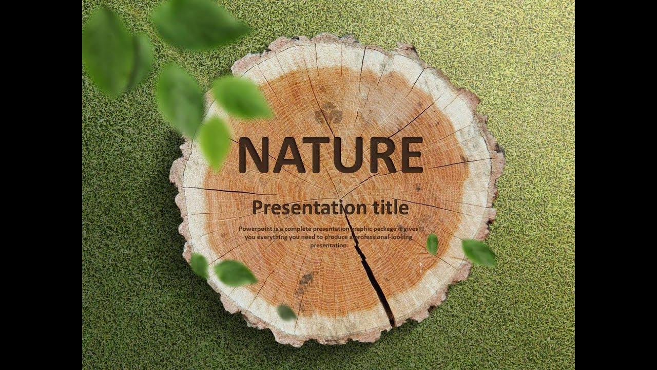 Nature animated ppt template youtube nature animated ppt template toneelgroepblik Image collections