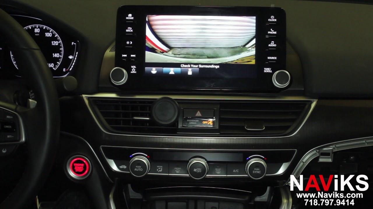 2018 Honda Accord Hondalink Naviks Front Camera Interface Youtube