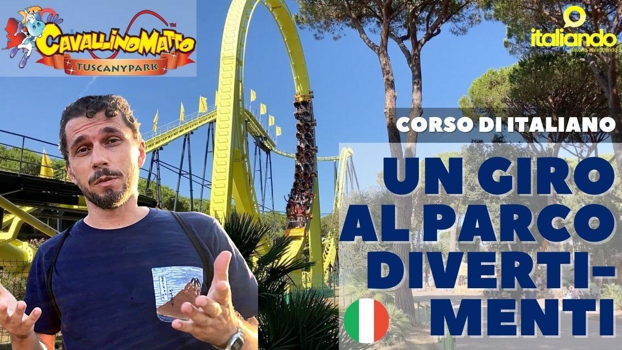 Un giro al Parco Divertimenti Toscana Parque de diversão amusement park Tuscany CORSO DI ITALIANO