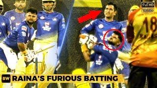 Raina's Massive Shots in Chennai Thala Dhoni gets Impressed!   CSK   IPL 2019