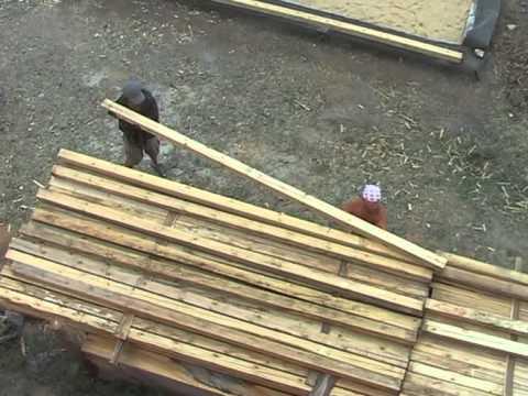видео: Строительство соломенного дома в Волгограде.Часть1