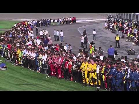Dan Wheldon Fatal Crash, Death Announcement and Salute - Live (HD)