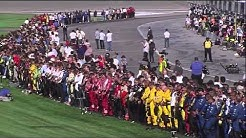 Dan Wheldon Fatal Crash, Death Announcement and Salute - Live (HD)