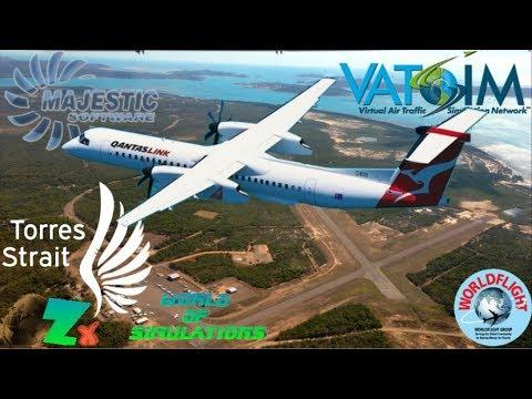 Majestic Q400 on Vatsim - Cairns to Horn Island (Torres Strait)