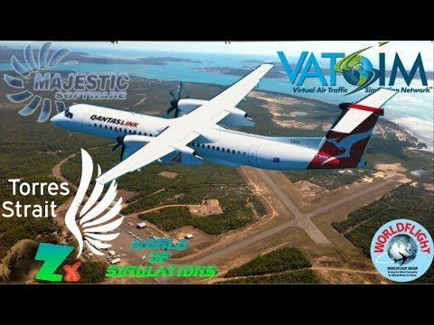 Majestic Q400 On Vatsim - Cairns To Horn Island (Torres Strait)