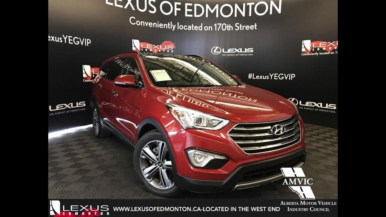 Used Red 2016 Hyundai Santa Fe Xl Limited Review Athabasca Alberta