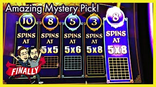 Almost OUT OF MONEY When A Mystery Pick on Dragon's Wealth Brings A BIG WIN! Palm Springs Spinners
