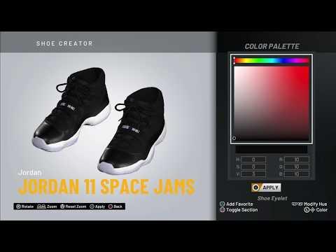 "NBA 2K20 Shoe Creator - Jordan 11 ""Space Jams"""