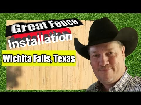 "Great Fence Installation in Wichita Falls, Texas with Mr Get ""R"" Done."