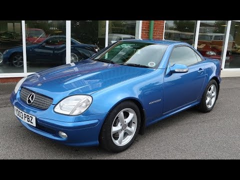 SOLD - 2003 Mercedes SLK 230 Kompressor convertible classic car for sale in Louth Lincolnshire