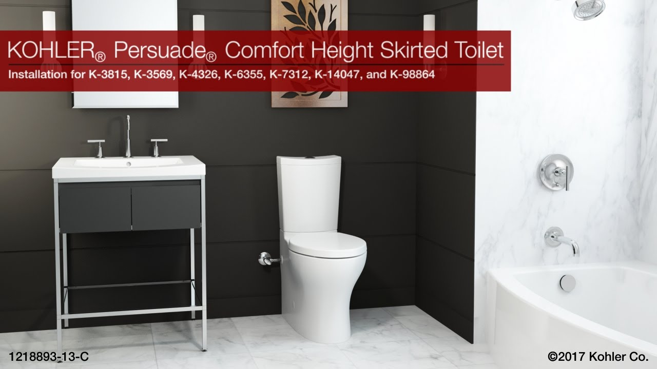 persuade comfort height skirted toilet