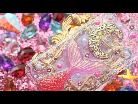 【レジン】月と人魚のスマホケース DIY Resin Mermaid Phone Case